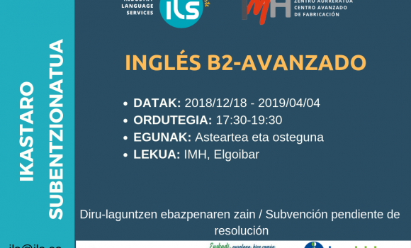 CURSO GRATUITO- INGLÉS B2