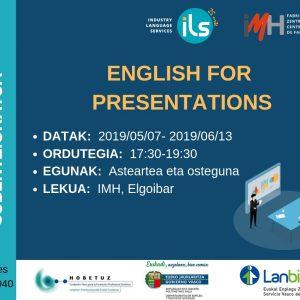 ENGLISH FOR PRESENTATIONS-CURSO 100% SUBVENCIONADO