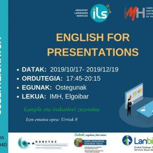 English for Presentations – Curso 100% Subvencionado