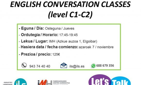 English Conversation Classes (level C1 – C2)