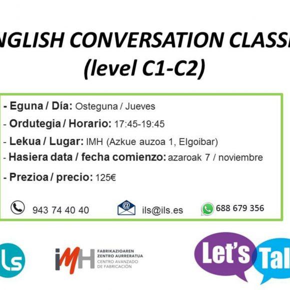 English Conversation Classes (level C1 – C2)